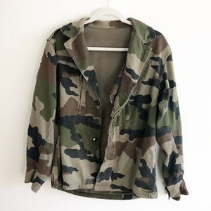vintage army camouflage jacket for women